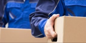 Removal men and boxes