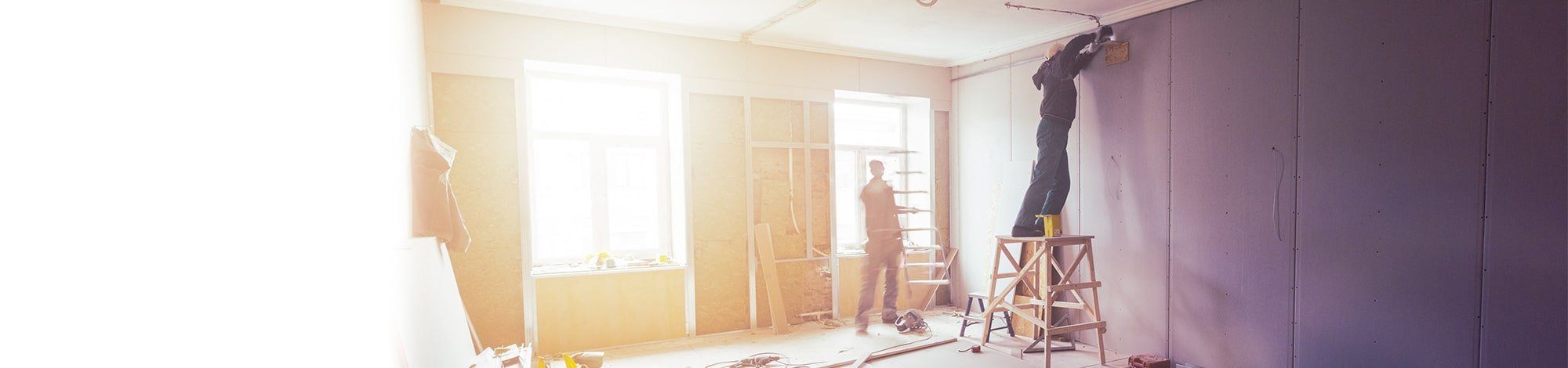 Two Tradesmen Working on a Home Renovation