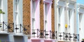 Close up of properties facade