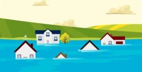 Five different properties in flood risk areas