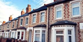 Row of terraced houses in UK