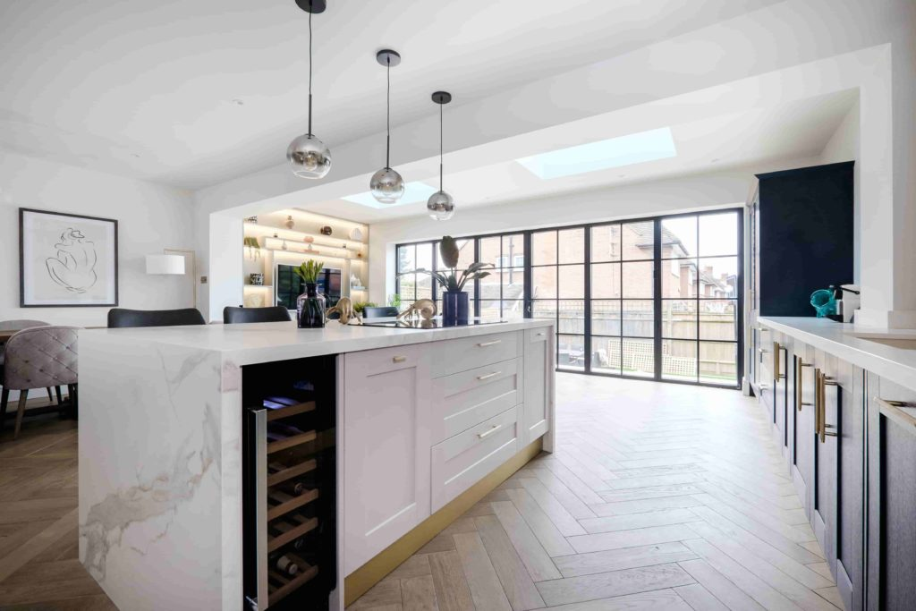 Image of open plan kitchen created by Embury Services