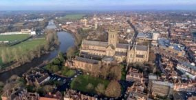 Aerial view of Worcester